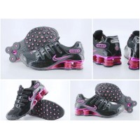 Women Nike Shox NZ 12 black purple peach