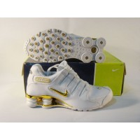 Women Nike Shox NZ 1 white golden