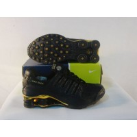 Women Nike Shox NZ 10 black golden