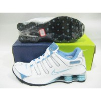 Women Nike Shox NZ 8 white blue