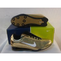 Women Nike Shox R3 11 golden white