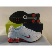 Women Nike Shox R4 Plating 2 white red black