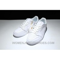 AIR Jordan 1 Air Retro Low Ns 872782-100 All White New Release 8hEYT