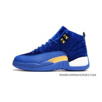 JORDAN 12A J12 36---40 Blue Yellow 2017 Women Lastest JKjAC