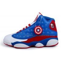 JORDAN 13 Captain America men basketball shoes 41-47