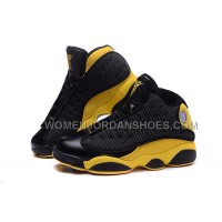 Air Jordan 13 Melo Carmelo Anthony Nuggets Away PE Black Yellow Gold