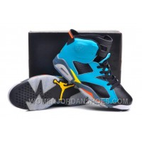 Jordan 6 Cannon Custom Blue Black Volt And Orange For Sale New Release EazPsAx