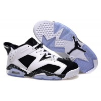"Air Jordan 6 Retro Low ""Oreo"" White Black Cheap Sale Online"