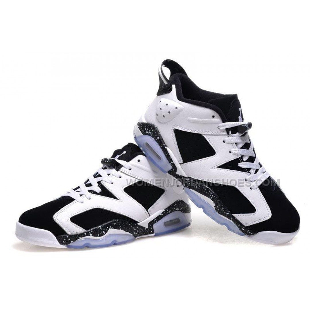 air jordan 6 retro low oreo white black cheap sale online price women jordan shoes. Black Bedroom Furniture Sets. Home Design Ideas