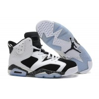 "Air Jordan 6 Retro ""Oreo"" Girls Size White/Black-Speckle For Sale"