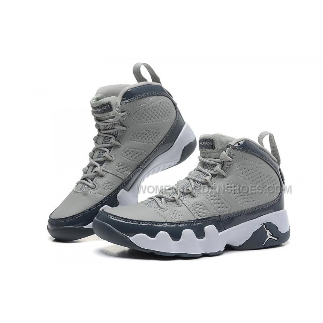 air jordan 9 retro medium grey cool grey white for sale online price women jordan. Black Bedroom Furniture Sets. Home Design Ideas