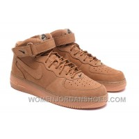 Nike Air Force 1 Mid FLAX 715889-200 Mens 2016 Discount