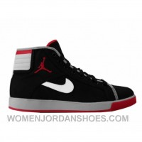 Air Jordan Sky High Canvas Black Varsity Red White Cement Grey 407282-001 Cheap To Buy