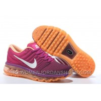 Authentic Nike Air Max 2017 Peach Purple Orange Discount Wf7WHzS