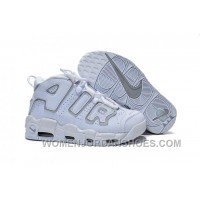 Nike Air More Uptempo GS White Wolf Grey Women Size 5.5 To Size 8 HK8Xb