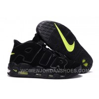 Men's Nike Air More Uptempo Black Volt Basketball Shoes Up To Size 13 RFbZ6