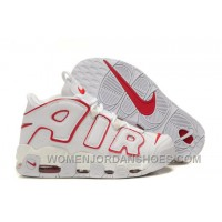 Cheap Nike Air More Uptempo White University Red For Sale EtF3W