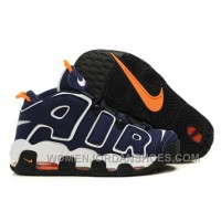 Nike Air More Uptempo Dark Obsidian/Orange-White For Sale SGERN