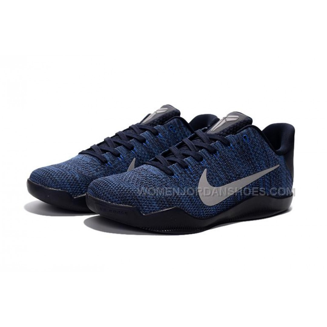 Nike Kobe 11 Flyknit Blue Basketball Shoes For Sale, Price ...