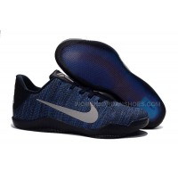 Hot Sale Style Nike Kobe 11 Dark Blue/Silver