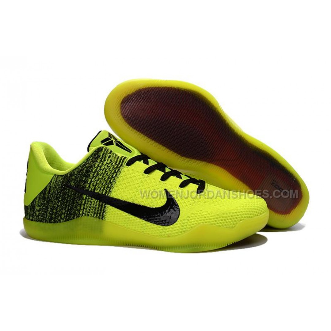 Fluorescent Yellow Nike Basketball Shoes