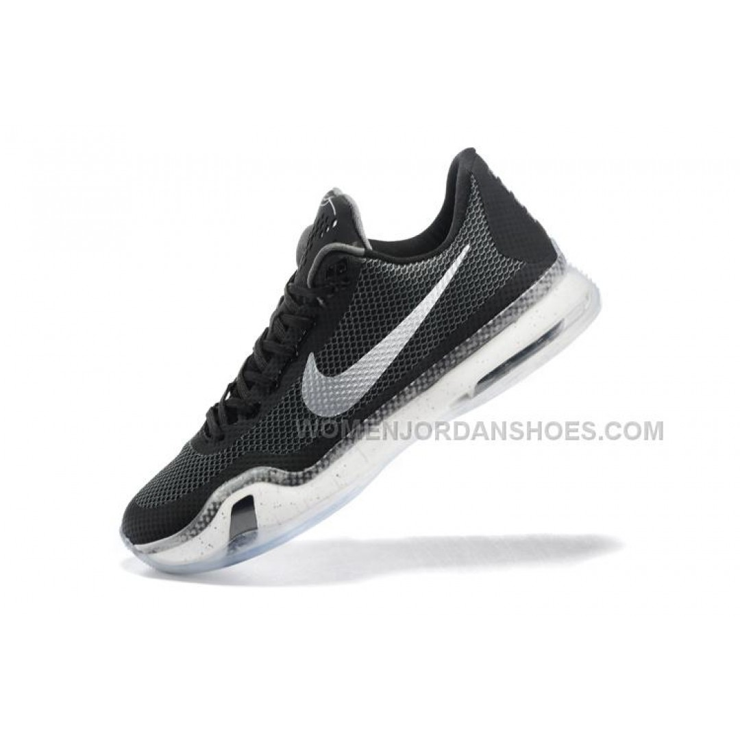 discount basketball shoes nike kobe 10 black white cheap. Black Bedroom Furniture Sets. Home Design Ideas