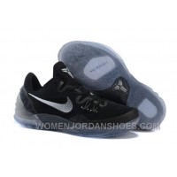 Cheap Genuine Nike Zoom Kobe Venomenon 5 Black Metallic Silver Dark Grey New Release SQccbM