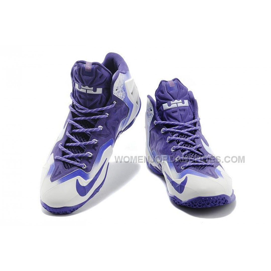 nike lebron 11 white court purple cheap for sale price
