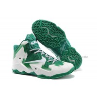 "Nike LeBron 11 ""Michigan State"" PE White Green For Sale"