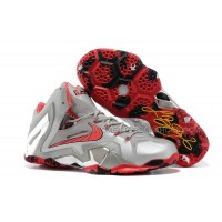 "Nike LeBron 11 Elite ""Team"" Wolf Grey/Crimson-Cool Grey-Black For Sale"