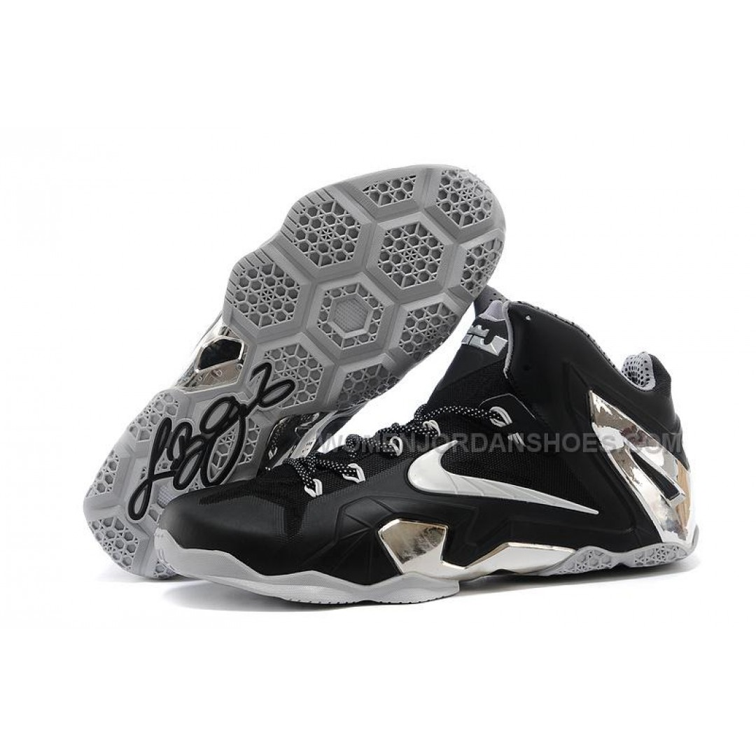 new nike lebron 11 elite blackmetallic silver for sale