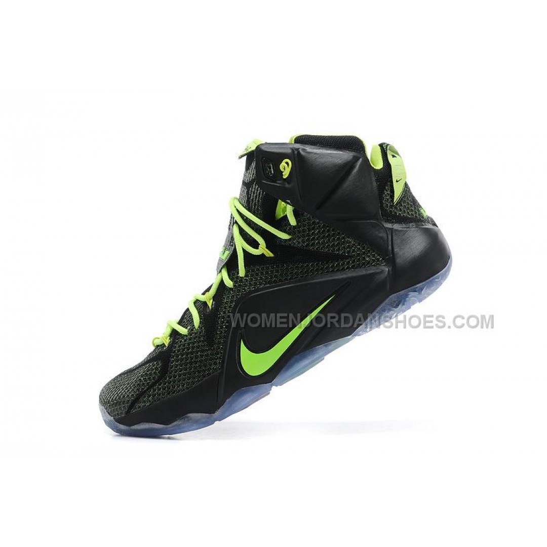 Nike LeBron 12 Black-Volt For Sale Cheap Online, Price ...