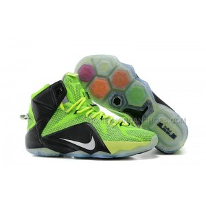 Nike LeBron 12 Neon Green/Black-Silver For Sale
