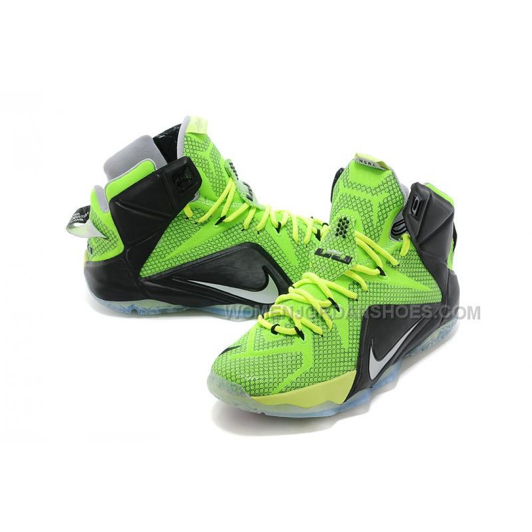 Nike LeBron 12 Neon Green/Black-Silver For Sale, Price ...