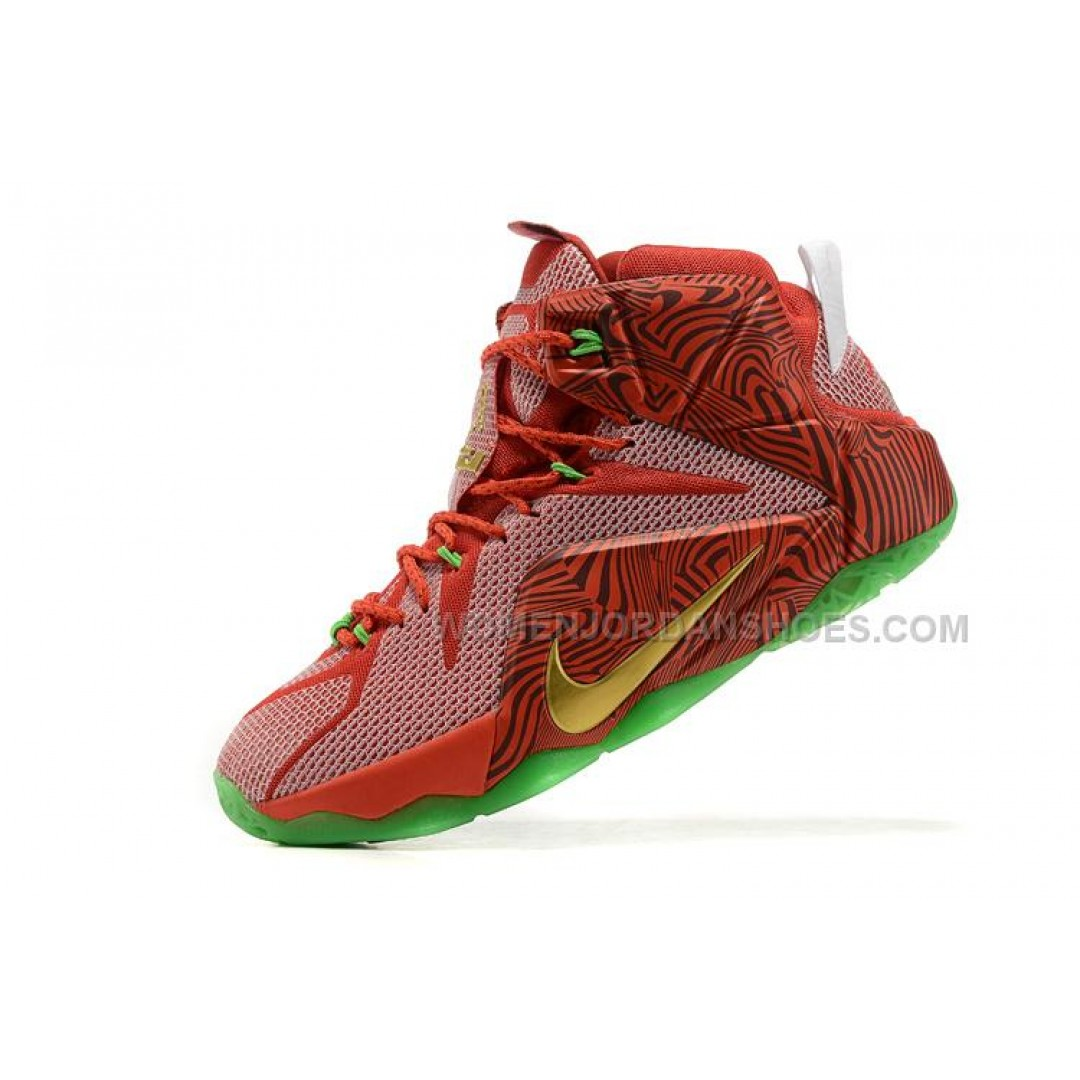 """Nike LeBron 12 """"LeBrons Mix"""" Sprite Bright Green/Red ..."""