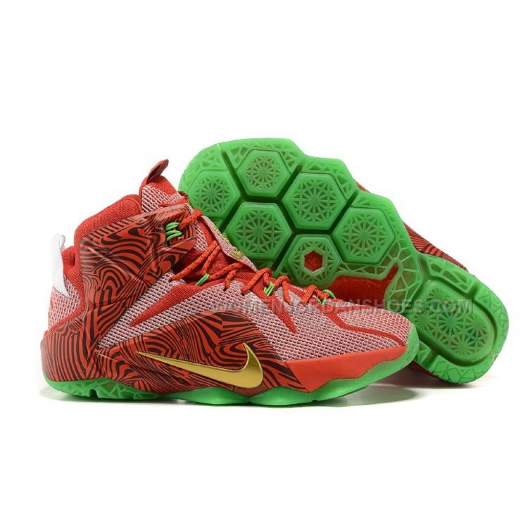 Cheap New Sprite LeBron 12 \u201cLeBrons Mix\u201d Red Green For Sale ...