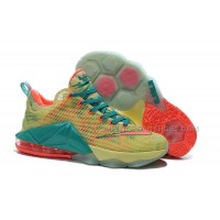 "Nike LeBron 12 Low ""LeBronold Palmer"" White/Lime-Bright Mango For Sale"