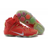 Nike LeBron 12 Red Volt Silver For Sale