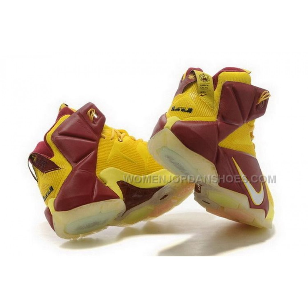 womens nike lebron 12 pink yellow