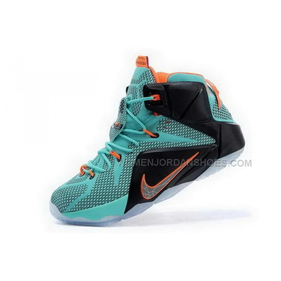 Buy Cheap Nike Lebron 12 2015 Blue Black Orange Mens Shoes ...