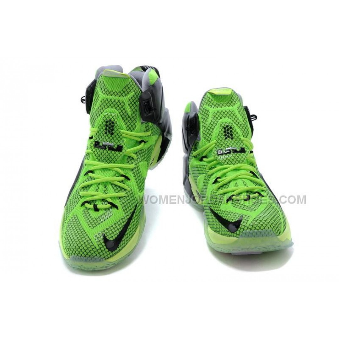 Cheap Nike LeBron 12 Green Black Basketball Shoes On Sale ...