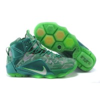Cheap Nike LeBron 12 Green Online For Sale