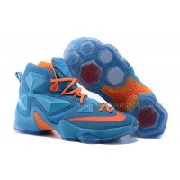 Nike LeBron 13 Sky Blue/Orange for Sale