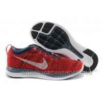 Australia Buy Nike Flyknit Lunar1 Mens Running Shoes Sale Red And Blue 2016 Discount