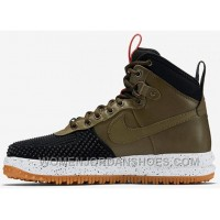NIKE LUNAR FORCE 1 DUCKBOOT 805999-00l Military Green Men 40-47