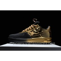 NIKE LUNAR FORCE 1 DUCKBOOT Black Gold