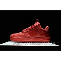 NIKE LUNAR FORCE 1 DUCKBOOT ALL RED