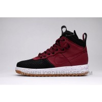 NIKE LUNAR FORCE 1 DUCKBOOT805999-00l Black Burgundy 40-47