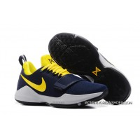"""""""Pacers"""" Nike PG 1 PE Obsidian/Yellow-Hyper Violet Discount"""