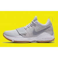 Nike PG 1 Pure Platinum/Wolf Grey-University Gold For Sale